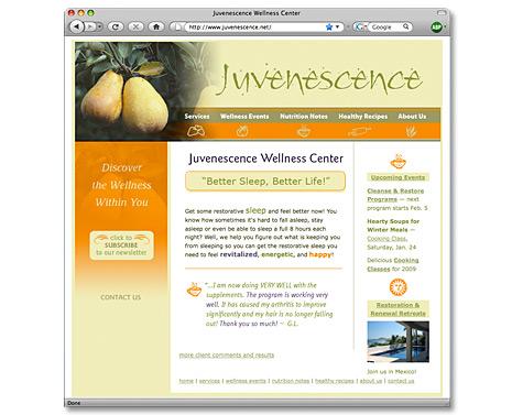 McHale Creative Portfolio: Web Sites: Juvenescence